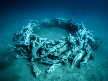 Discover the most photographed sculptures at the first underwater museum in Europe