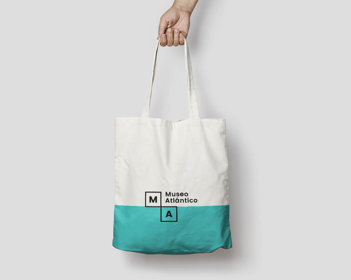 Tote bag logo bolection Museo Atlántico