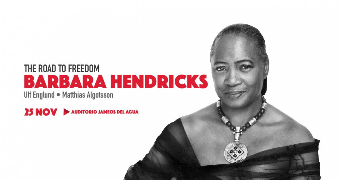 Barbara Hendricks road to freedom at jameos del Agua Lanzarote